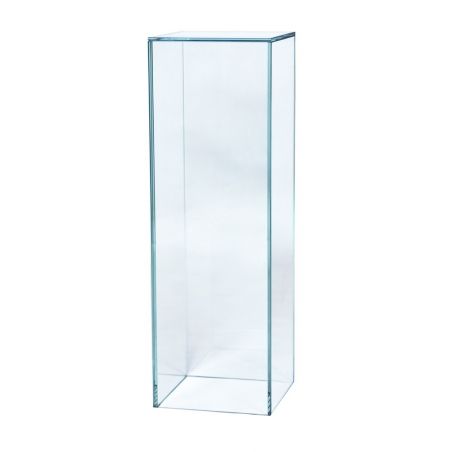 Podium av glas, 20 x 20 x 100 cm (lxbxh)