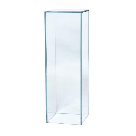 Podium av glas, 25 x 25 x 100 cm (lxbxh)