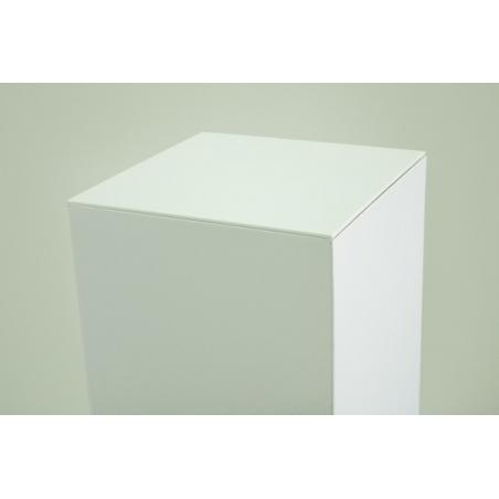 Topp av 4 mm vitt Plexiglas, mätningar 45,2 x 45,2 cm (för kartongpodier)
