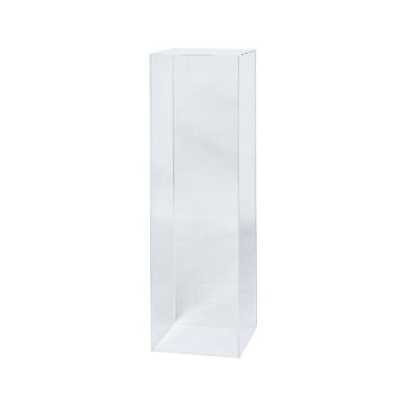 Podium av plexiglas, 35 x 35 x 100 cm (lxbxh)