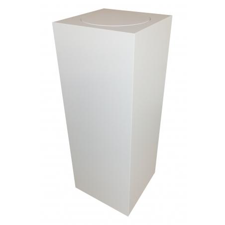 Vit bas med rund snurrplatå 30 x 30 x 100 cm